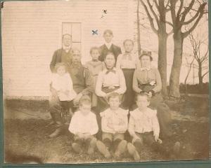 Levi Springer & Cornelia Goucher Northrup Kierstead Family, probably 1900 - commemorating their arrival in Massachusetts from New Brunswick.