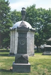Photo of the Roane monument at St. Patrick's Cemetery in Lowell, MA