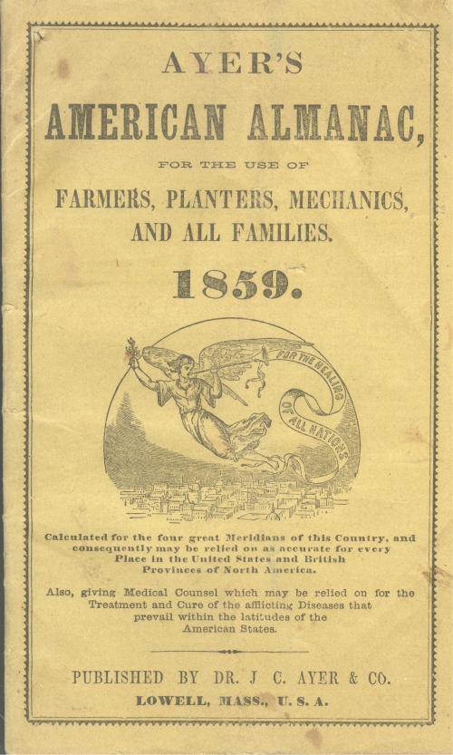 Cover of Ayer's American Almanac 1859