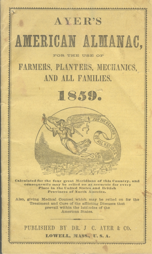 Cover of Ayer's American Almanac 1859