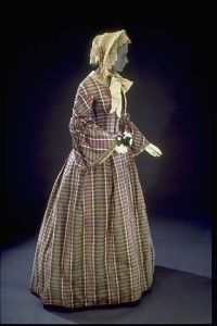 Worn by a New Hampshire bride in 1857. [Smithsonian National Museum of American History]
