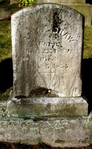 Gravestone of Amy Ann (Shaw) Hathaway, Oak Grove Cemetery, New Bedford, MA