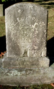 Gravestone of Helen (Pratt) Hathaway, Oak Grove Cemetery, New Bedford, MA.
