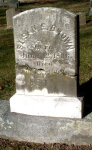 Grave stone of Susan E. (Brown ) Hathaway, 1836-1903, in Oak Grove Cemetery, New Bedford, MA
